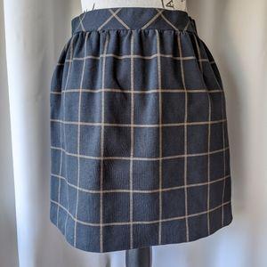 Madewell Windowpane Mini Skirt Black Size 2